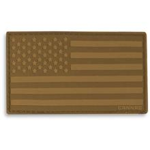 Cannae Pro Gear USA Velcro Patch, Left Arm, Coyote