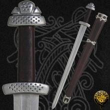 CAS Hanwei SH2296 Trondheim Viking One-Piece Folded Blade-Guard-Pommel Leather