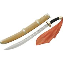 CAS Hanwei SH1011 Oxtail Dao Broadsword 25 inch Blade, Black Cord Wrapped Handle, Brass Mounted Wooden Sheath
