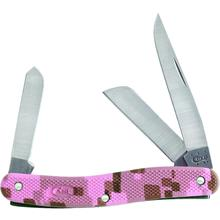Case Pink Camo Case Caliber Medium Stockman 3-5/8 inch Closed (LT318 SS)