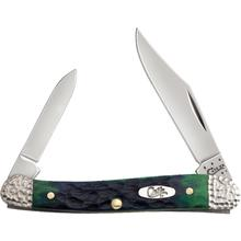 Case Hunter Green Bone Worked Bolster Mini Copperhead 3-1/8 inch Closed (62109X SS)