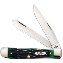 Case Hunter Green Bone Trapper Pocket Knife 4.125 inch Closed (6254 SS)
