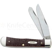 Case Working Brown Synthetic Trapper 4-1/8 inch Closed (6254 SS)