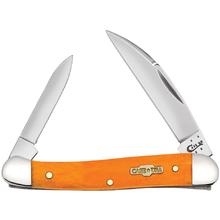 Case Smooth Persimmon Orange Bone Mini Copperhead 3-1/8 inch Closed (62109W SS)