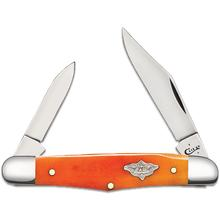 Case Smooth Persimmon Orange Bone Half Whittler 3.25 inch Closed (6208 SS)