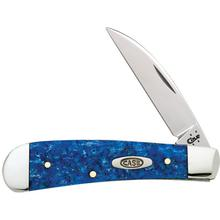 Case Blue Sparkle Kirinite Wharncliffe Sway Back Jack 3-3/16 inch Closed (TB101117 SS)