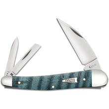 Case Smooth Turquoise Curly Maple Seahorse Whittler 4.0 inch Closed (7355WH SS)