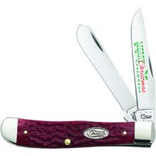 Case Christmas Dark Red Bone Trapper with Pewter Shield 4-1/8 inch Closed (6254 SS)