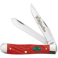 Case Christmas Rough Dark Red Synthetic Trapper 4-1/8 inch Closed (6254 SS)