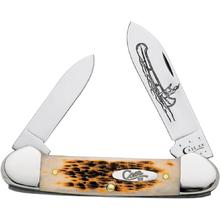 Case Amber Bone Canoe 3-5/8 inch Closed (62131 CV)