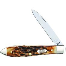 Case Burnt Amber Bone Tear Drop Jack 3-5/8 inch Closed (TB61028 SS)