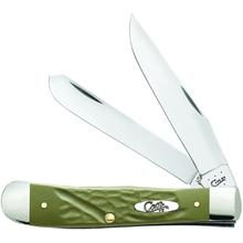 Case Rough Olive Green Synthetic Trapper 4-1/8 inch Closed (6254 SS)