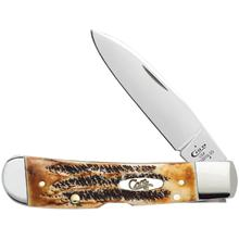 Case Tony Bose 6.5 BoneStag Tribal Lock 4.125 inch Closed (TB6.512010L SS)