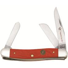 Case Boy Scouts of America Rough Red Synthetic Medium Stockman 3-5/8 inch Closed (6318 SS)