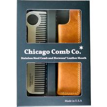 Chicago Comb Model 1 Classic Comb and Horween Leather Sheath, Gift Set