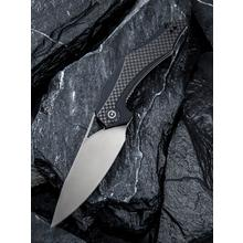 CIVIVI Knives C904C Elijah Isham Plethiros Flipper Knife 3.45 inch D2 Satin Blade, Black G10 Handles with Carbon Fiber Overlays