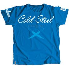 Cold Steel TK1 Women's Blue T-Shirt - Cross Guard, S