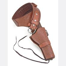 Deluxe Tooled Brown Western Holster - Large