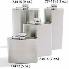 Concord 5.5 oz. Mirage Satin Finish Stainless Steel Flask