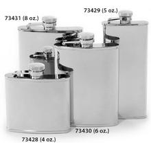 Concord 4 oz. Mirror Polish Stainless Steel Flask