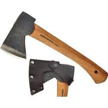 Condor Tool & Knife CTK4053C10 Scout Hatchet 4-1/4 inch Carbon Steel Head, American Hickory Handle, Leather Sheath