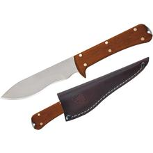 Condor Tool & Knife CTK7000-4.4 Two Rivers Skinner 4-1/2 inch Satin Stainless Steel Blade, Hardwood Handles, Leather Sheath
