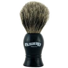 Colonel Conk #1001 Standard Pure Badger Shave Brush, Black Resin Handle