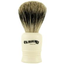 Colonel Conk #1016 Best Badger Shave Brush, Cream Handle