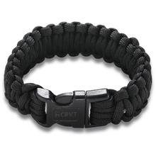 Columbia River 9300KL (Large) Onion Survival Para-Saw Paracord Bracelet, Black