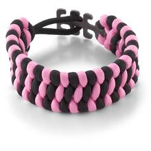 Columbia River CRKT 9400PK Tom Stokes Adjustable Paracord Bracelet, Pink/Black