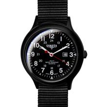 Dakota Watch Company Ultra Light Field, Black Dial, Nylon Strap