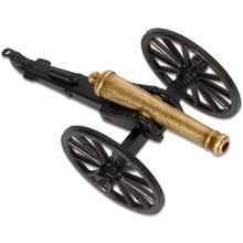Denix Miniature 1857 American Civil War  inchNapoleon inch Cannon, Black/Brass Metal