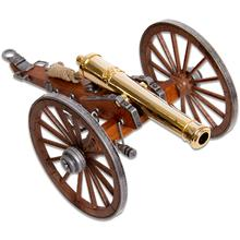 Denix Miniature 1857 American Civil War  inchNapoleon inch Cannon, Gold-Plated