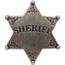 Denix Replica Sheriff's Badge, Burnished Nickel