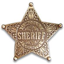 Denix Replica Lincoln County Sheriff's Badge