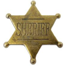 Denix Replica Sheriff's Badge, Burnished Gold