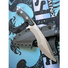 Dervish Knives Mid-Tech Ursa Minor Fixed Blade Knife 7.375 inch CPM-3V Stonewashed Blade, Black G10 Handles, Kydex Sheath
