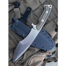 Dervish Knives Mid-Tech Ursa Minor Fixed Blade Knife 7.375 inch CPM-3V Stonewashed Blade, Desert Camo G10 Handles, Kydex Sheath