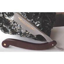 DOVO Straight Razor 6/8 inch Full Hollow Ground Carbon Steel Blade, Burgundy Paper Stone Handle (76820)