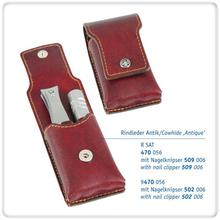 DOVO 2-Piece Nail Clipper and Nose Hair Trimmer Set in Antique Leather Case