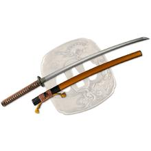 Dragon King SD35120 Tatsumaki Katana 27.875 inch T10 Hamon Blade, Cord Wrapped Handle