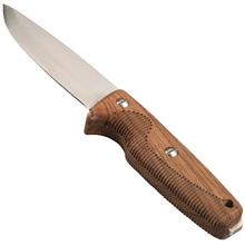 EKA Nordic W12 Fixed 4.72 inch Sandvik 12C27 Plain Blade, Bubinga Wood Handles, Kydex Sheath