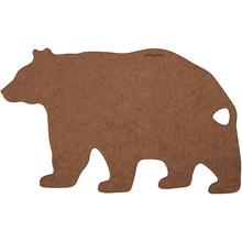 Epicurean Novelty Series Wood Fiber Bear Cutting/Serving Board, Nutmeg/Natural, 16.5 inch x 10 inch
