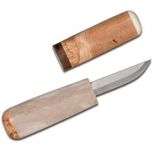 Kellam Knives Finnish Tasku Knife Fixed 2.25 inch Carbon Steel Blade, Antler Handle