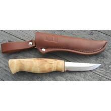 Kellam Knives Finnish Falcon Puukko 3 inch Blade, Arctic Curly Birch Handle