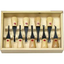 Flexcut 9-Piece Deluxe Palm Set, 9 Different Style Blades, Ash Wood Handles, Storage Box