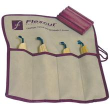 Flexcut 4-Piece Right-Handed Scorp Set, 4 Different Style Blades, Ash Wood Handles, Knife Roll