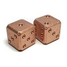 Flytanium Large Cuboid Copper Dice, 2-Pack