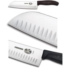 Victorinox Forschner 7.0 inch Santoku Knife with Granton Edge and Fibrox Handles
