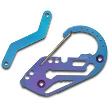 Fortius Arms Blue Anodized Titanium KeyBiner Carabiner Key Retention System